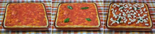 Pizza margherita su terracotta